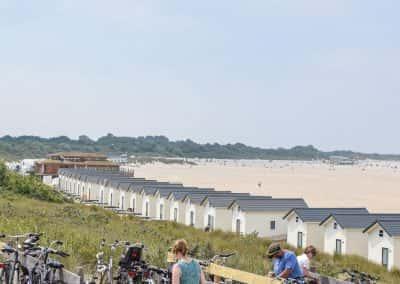 Overzicht strand vrouwenpolder