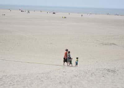 Strand wandelen met kinderen in Vrouwenpolder