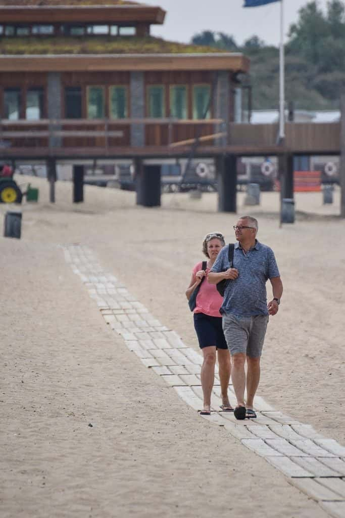 Strand wandelen vrouwenpolder