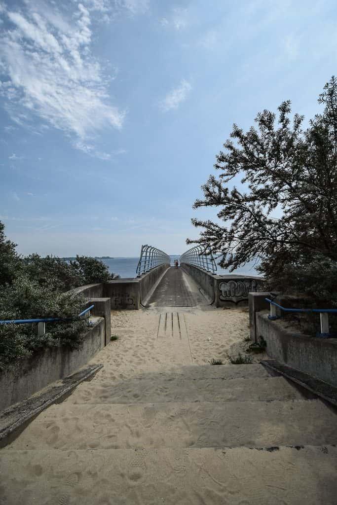 Veersedam overgang naar Strandrestaurant de Dam