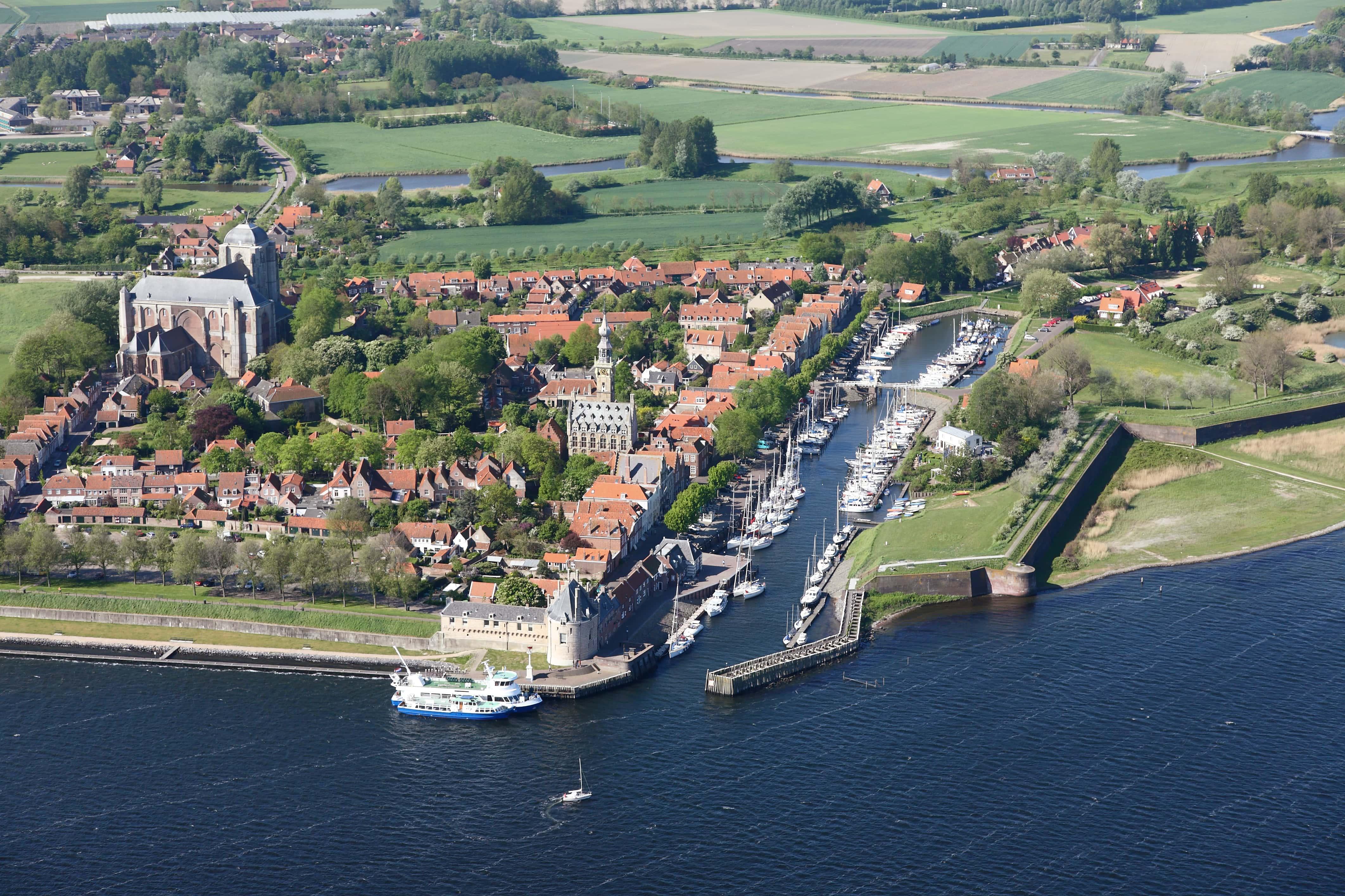 Luchtfoto van Veere